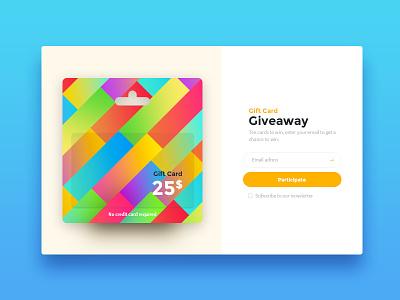 097 DailyUI — Giveaway giveaway ui dailyui 097