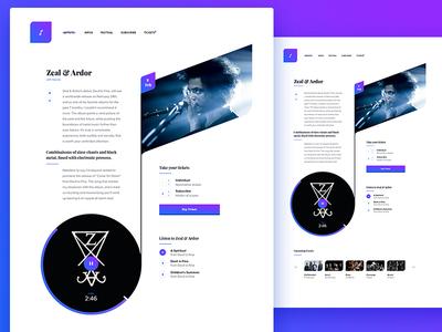 Music Concert — Artist page