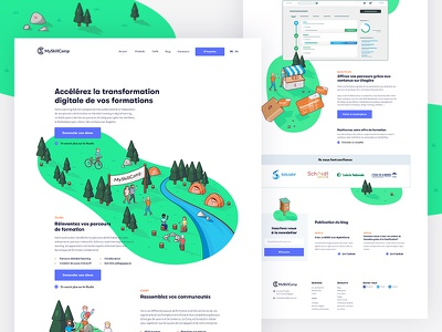 MSC — Landing Page myskillcamp landing page elearning learning digital msc forest camp shape green