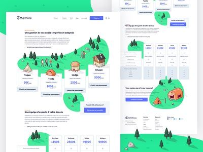 MSC — Pricing Page shape myskillcamp msc learning landing page green forest elearning digital camp