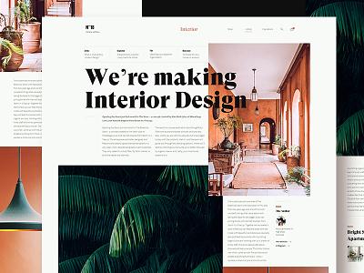 Interior design blog orange grid blog article layout design interior design plant interior