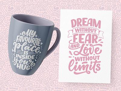 Love Prints greeting card mug design i love you valentine day love quote poster typography print logo logotype hand drawn design illustration lettering