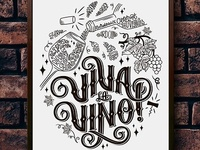 Lettering Compositions for Wine Store