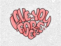 """Lettering card - """"Love you forever"""""""