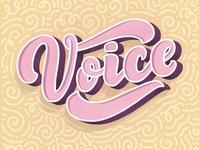 3D lettering - Voice
