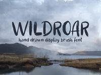 Wildroar hand drawn font