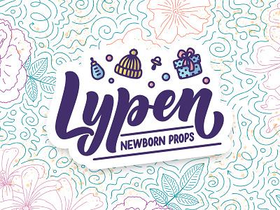 "Logotype ""Lypen"" etsy online shop boutique logo kids newborn props brending lettering art poster typography print logo hand drawn design logotype illustration lettering"