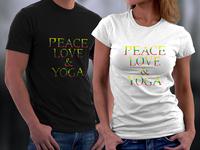 Peace love & yoga T-shirts