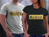 Hash love t-shirts