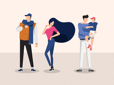 People Flat Illustration