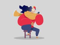 Flat Guy Illustration