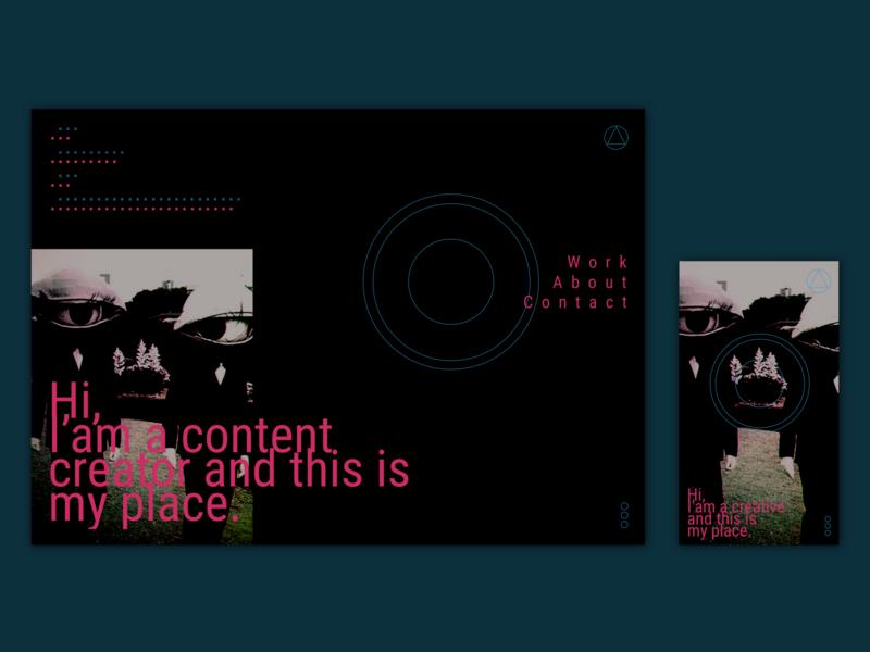 UI Content Creator Homepage minimal ui design ui ux ui inspiration