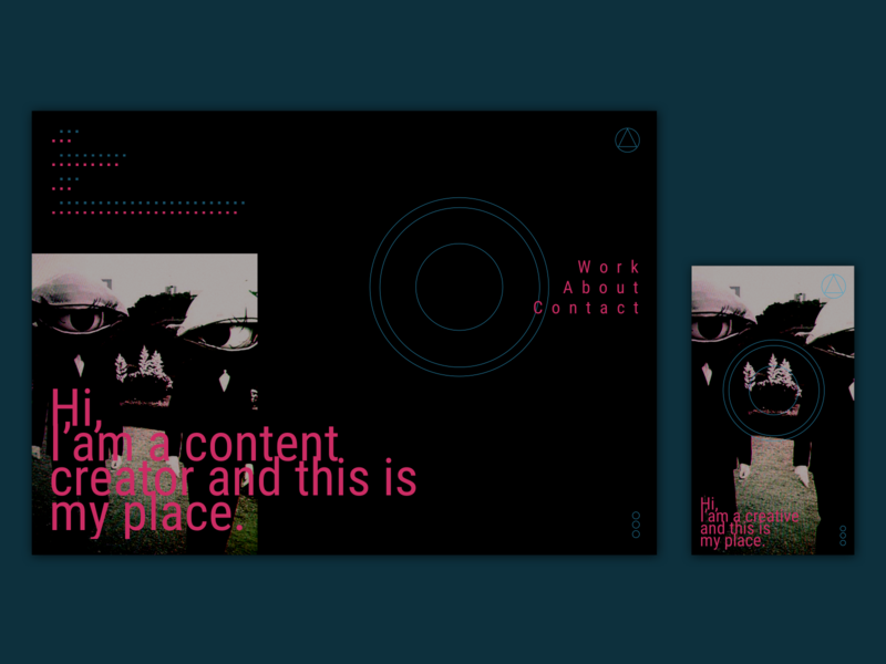 UI Content Creator Homepage