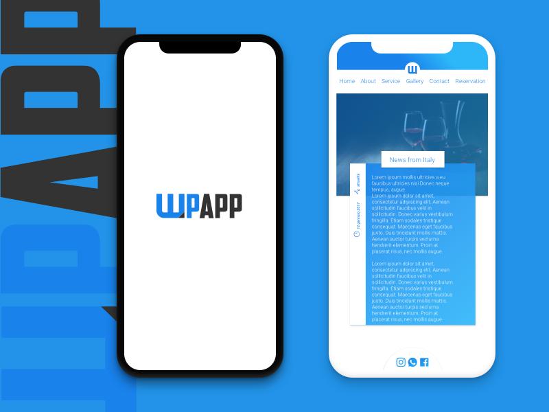 wpApp wordpress App ionic ios creative inspiration dev ux ui wordpress