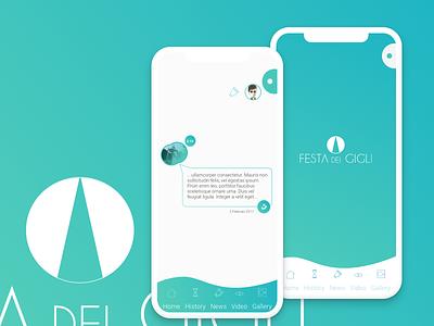 Concept Gigli App sketch inspiration ux ui design app