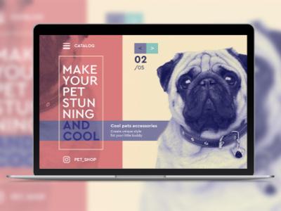 Petshop Web-Concept website design nicecolors concept photoshop petshop pets webdesign