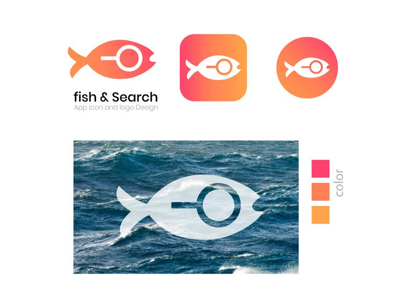 fish & Search app icon and logo