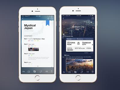 Travel Journal App mobile travel journal note
