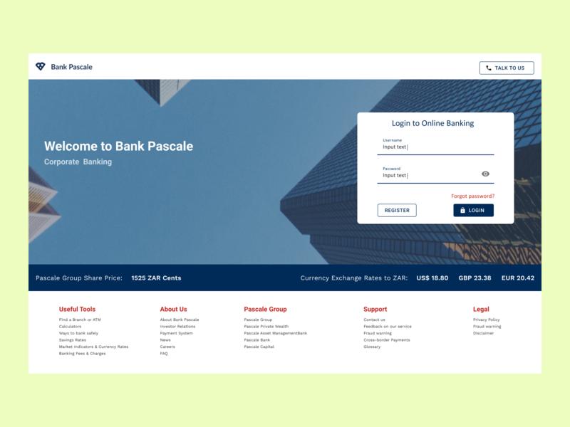 Back Login Screen login page login banking dailyui uichallenge ux ui design app
