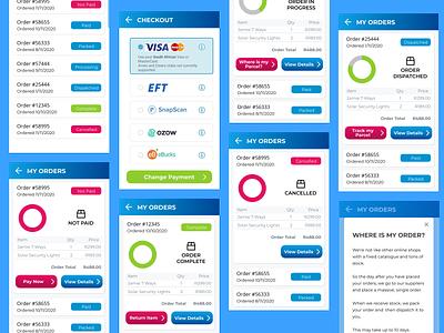 Order Status online shopping orders ordering app ux ui design