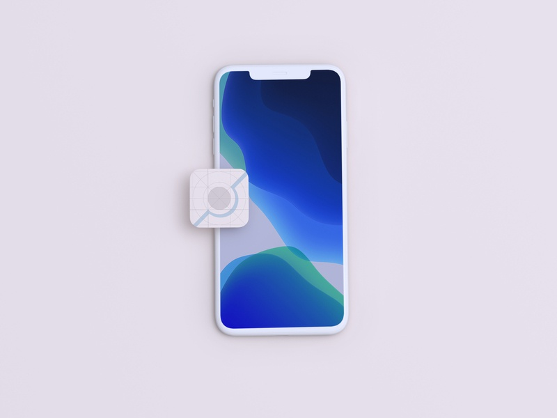 iPhone Mockup with App Icon ui mockups ios design freebies free download freebie psd mockup