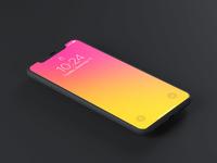 Dark Iphone x psd mockup