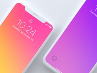 Top View Light iPhone x Mockup