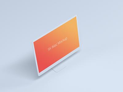 Light iMac Mockup mockup imac 5k imac gradient download free freebies freebie light gradient light white 5k screen