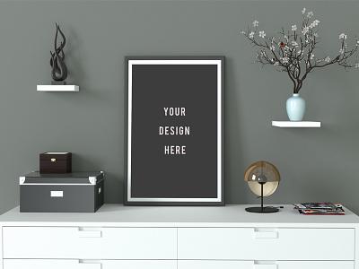 Minimal Poster Mockup designer graphic design free download freebies mock ups up mock poster download free