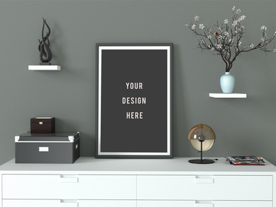 Minimal Poster Mockup designer graphic design free download freebies mock ups up mock poster download free