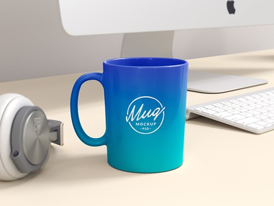 Colored Coffee Mug Mockup download design freebie psd mug corporate identity branding photorealistic mockup coffee mug