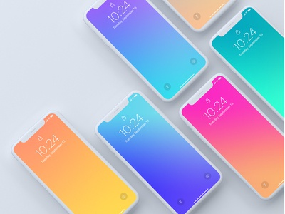 Top View of iPhone X devices Mockup template psd mockup mobile iphone x iphone ios freebie free apple