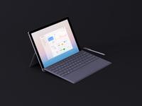 Minimal Surface Pro Mockup