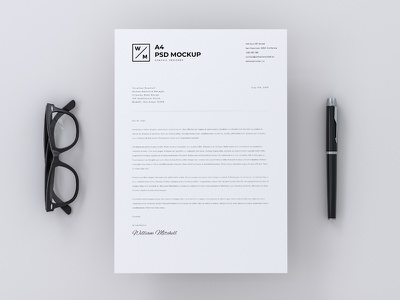 Top View A4 Paper Mockup receipt paper mockup invoice bw a4