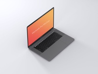 Macbook Isometric Mockup