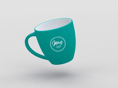 Floating Mug Mockup elegant clean minimal floating freebie mockup free psd coffee mug