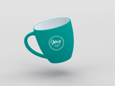 Floating Mug Mockup elegant clean minimal floating freebie mockup free psd coffee mug
