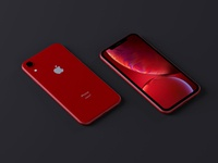 Red iPhone Xr Mockup