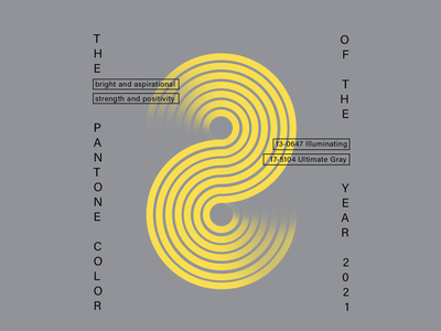 Pantone color 2021 design logo poster graphic design