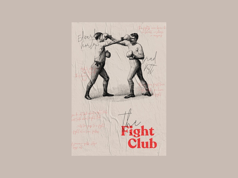 Fight Club - Alternative Movie Poster inspirational alternative alternative movie poster movie movie poster poster design poster a day poster art posters challenge poster design