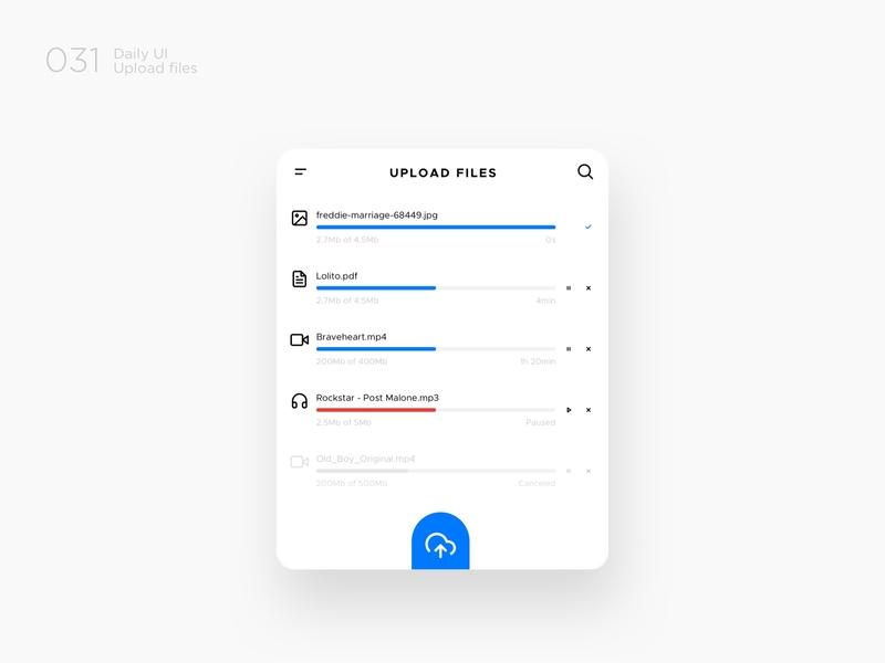 Upload files dailyui daily 100 challenge design challenge ux design ux userinteraction userexperience ui design ui