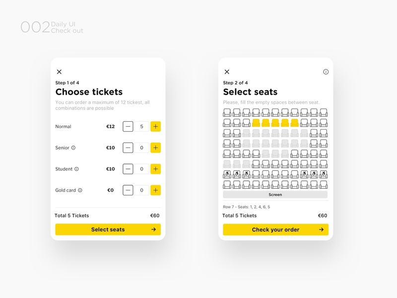 Check out  - Part I application yellow ux ui dailyui challenge ux design userinteraction userexperience ui design flat app design app