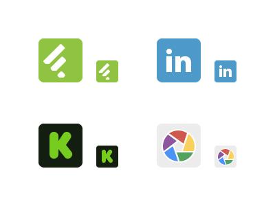 New Free Social Icons social icons social icons free feedly linkedin kickstarter picasa