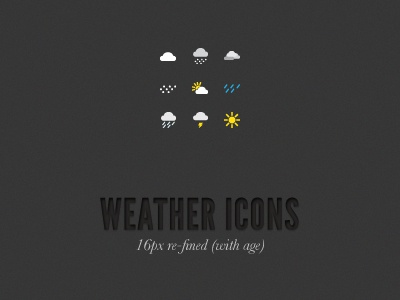 Weather Icons Refined icons icon weather