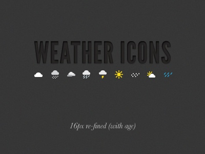 Weather Icons Refined Again icons icon weather