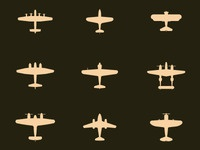 WWII Aircraft Icons