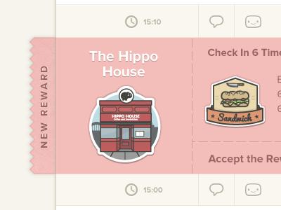 A Reward reward badges ticket ui web interface clean simple