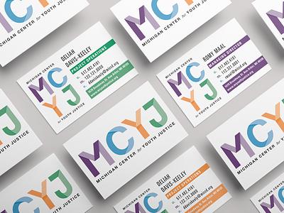 Identity for Michigan Center for Youth Justice branding design criminal justice reform rebrand design business cards idenity branding