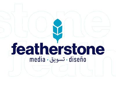 Featherstone Media detroit logo branding illustration design