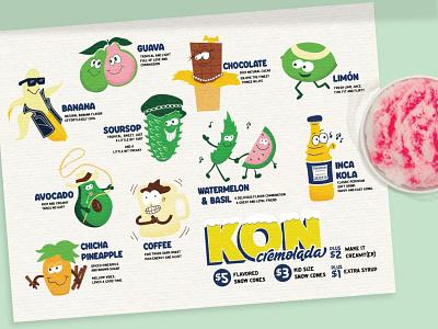 Still Kon-n graphic design typography branding logo food menu design illustration